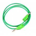 Test Lead, 4mm Banana Plug to 4mm Banana Plug, Green 1 m