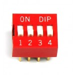 MCNDS-04-V, DIP-SWITCH, Poles number: 4, ON-OFF,  24 VDC, 25mA  DIP 8