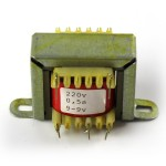 Conventional 230V transformer for 2x 6V, 0.5A