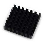 Heatsink in black anodized aluminum 40x40x6mm