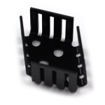Black anodized aluminum heat sink for TO3 semiconductors