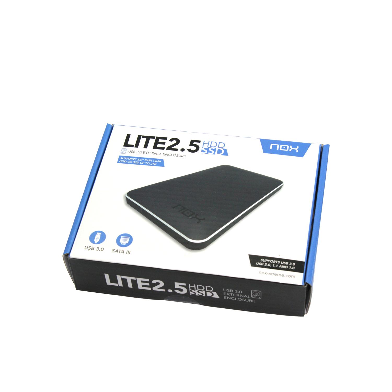 ESACONN - External Box Nox Lite 2 5 HDD / SSD USB 3 0 Black
